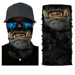 High quality breathable windproof motorcycle face mask unisex off road summer spring cycling running moto mask skull