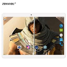 $enCountryForm.capitalKeyWord Australia - 10.1 inch Tablet PC Android 6.0 Octa Core 4GB RAM 32GB ROM Dual SIM Card GPS Bluetooth Call phone Gifts MID Tablets 10 10