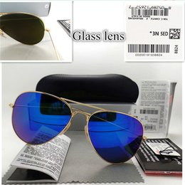 $enCountryForm.capitalKeyWord Australia - Top quality Glass lens Polit Fashion Sunglasses UV Protection Men Women Brand Designer Vintage Sport Sun glasses With box