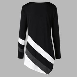 Wholesale long tunic tops women online – Fashion Women Hoodies Pullover Sweat Casual Long Sleeve Hooded Autumn Winter Striped Asymmtrical Tunic Tops Plus Size Sweatshirt