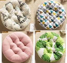 Discount pp cotton filling - 2pcs lot Home Round Seat Cushions PP Cotton filled Plush Tatami Matting Cushions Chair Back Cushion Sofa Pillow 40x40cm
