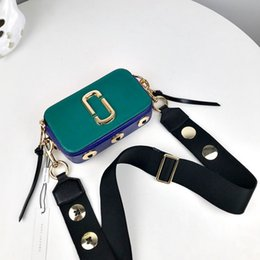 luxury designer bag leather Australia - High Quality Color Patchwork Camera Bags Luxury Handbags Women Bags Designer Genuine Leather Shoulder Bags Female Crossbody Bag