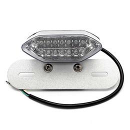 12v Tail Lights Australia - Motorcycle 12V LED License Plate Brake Tail Turn Signal Light For Honda, Suzuki King Quad