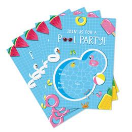 $enCountryForm.capitalKeyWord NZ - Swimming Pool Birthday Party Invitations Cards Summer Wedding Baby Shower Cartoon Invitations Kids Party Favors Decorations