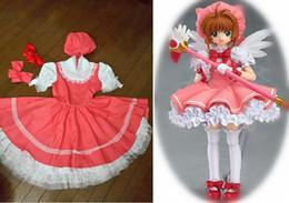 $enCountryForm.capitalKeyWord Australia - New Anime Cardcaptor Sakura Sakura Kinomoto Cosplay Costume Pink Fancy Dress Halloween Adult Costumes for Women S-XL