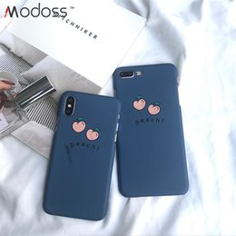 Peach iPhone online shopping - Modoss Hard PC Peach Phone Cases Korean Style Shockproof Case Rugged Phone Cover For Iphone XR XS XS MAX