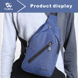 material packs NZ - Casual Single Shoulder Bag Practical Sling Bag Portable Chest Bag Canvas Material Wallet Handbag Fanny Pack Tote 2019 New Mixed Wholesale