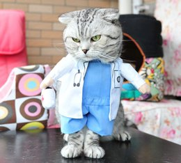 2020 Pet Dog Cat Funny Clothing Halloween Party Cosplay Doctor Costume Dog Christmas Dress Suit Pet Upright Finery Clothes Jacket