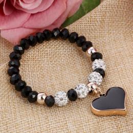 Shambhala Chain NZ - ZOSHI 2019 Crystal Butterful Bracelet & Bangle Elastic Heart Bracelets For Women Handmade Shambhala Beads pulseira masculina