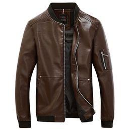 $enCountryForm.capitalKeyWord Australia - New 2018 Fashion PU Leather Motorcycle Jacket Men Korean Style Baseball Collar Jackets and Coat Male Hip Hop Bomber Coats