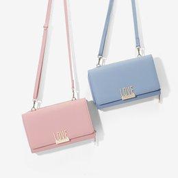 $enCountryForm.capitalKeyWord Australia - Fashion solid color female letter wallet Korean design PU leather fabric small square bag soft face female wallet