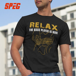 $enCountryForm.capitalKeyWord Australia - T-shirts For Men Bass Playerrelax The Bass Player Is Here Acoustic Electric Guitars Music Man O Neck Short Tees Man T Shirt Y19060601