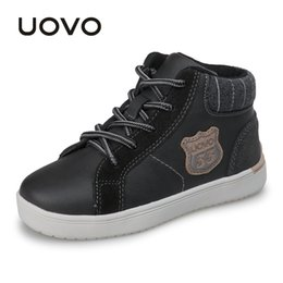 $enCountryForm.capitalKeyWord NZ - Uovo 2019 New Autumn & Winter Walking Shoes Fashion Boys Casual Shoes Children Sneaker Warm Comforable Kids Shoes Eur30#-35# Y190525