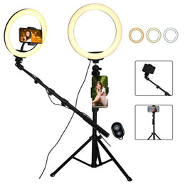 Video led light ring online shopping - 10 Selfie Ring Light with Separable Tripod Stick Stand Phone Holder LED Dimmable color for Video Youtube inch Phone Night star
