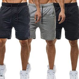 Gray Cotton Leggings Australia - Mens Athletic Gym Leggings Cotton Shorts Fitness Running Workout Casual Sport Jogging Shorts For Men Clothing M-3XL