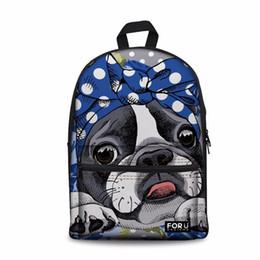 Customized Bags Australia - Customized Boston Terrier Pattern Kawaii School Bags For Girls Orthopedic Backpacks Women Book Bags Kids Satchel Knapsack 2019