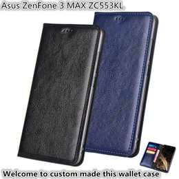 asus holder Australia - QX13 Gneuine Leather Wallet Phone Bag With Card Holders For Asus ZenFone 3 MAX ZC553KL Phone Case Kickstand For Asus ZenFone 3 MAX ZC553KL