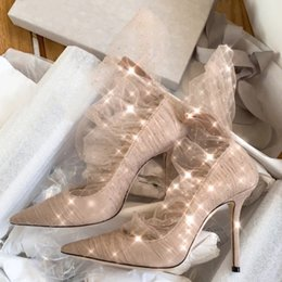 Discount hot sexy evening wedding dresses - Designer Wedding Heels Shoes Bride Talons Hauts Women Dress Red Bottoms Heels007 shoes 2019 Early Spring New Hot Sexy Ev