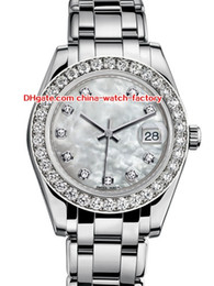 DiamonD gem stone online shopping - 12 Style Topselling High Quality mm mm Pearlmaster Datejust Diamond Sapphire Asia Mechanical Automatic Ladies Watch Women Watches