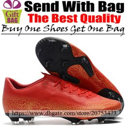 $enCountryForm.capitalKeyWord Australia - New Leather CR7 Soccer Shoes Mercurial Vapors XII Pro FG ACC Football Boots Mens Outdoor Low Soccer Cleats Cristiano Ronaldo Red Gold Black