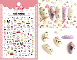 patterned nail tips Australia - Cartoon Patterns !Nails Art Manicure Back Glue Decal Decorations Design Nail Sticker For Nails Tips Beauty