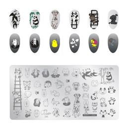 $enCountryForm.capitalKeyWord Australia - Cartoon Anime Nail Art Stamp Plate Template Cartoon Patterns Image Stamping Polish Print Manicure Nail Stencil Stamper