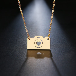 Gold Camera Pendant Australia - DOTIFI Stainless Steel Necklace For Women Lover's Gold And Silver Color Camera Pendant Maxi necklace Choker