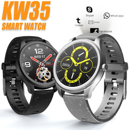 Pressione KW35 intelligente Guarda Wearable Devices Smartwatch Sangue fitness inseguitore IP68 impermeabile orologio promemoria sonno Monitor Messaggio