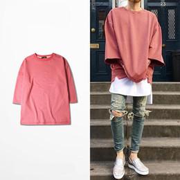 Tees Shirts Australia - 2016 new half sleeve t shirts oversized men tees homme Kanye WEST style clothing t-shirt hip hop pink streetwear mens t shirts