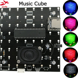 $enCountryForm.capitalKeyWord Australia - Freeshipping New 3D 8S 8x8x8 mini mp3 music light cubeeds kit built-in audio spectrum remote switch model led electronic diy kit