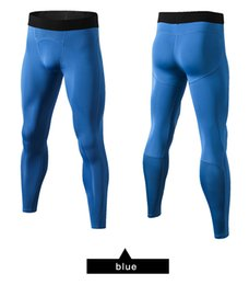 running stretch tight Australia - Tight Pants Sports Stretch Compression Quick Dry Men Leggings Fitness Running Fitness Trousers Jogger Wear