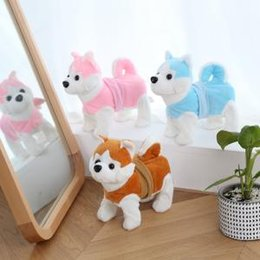 ElEctronics gamEs online shopping - 25cm Electric dog Walking Plush Toy Doll Toys Electronic Music toy Machinery dog Kids Toy gift party favor Novelty Games FFA1552