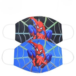 wholesale cotton face mask Australia - Spiderman Mouth face Mask for Kids Adult Unisex Cartoon Face Breathable Cotton Windproof Anti-Dust Anti Pollution Reusable Masks DHL KHN297