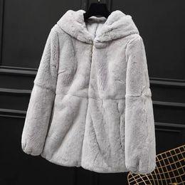 $enCountryForm.capitalKeyWord Australia - Autumn Winter Real Genuine Rex Fur Coat Women Winter Natural Rex Fur Coat Jacket with Hood A179