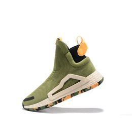 Опт Мужская дизайнерская обувь True Wild Midsol дизайнер Vision для мужчин Баскетбольные кроссовки спортивные кроссовки City Sock Shoes высокие вязаные туфли A18