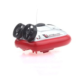 classic car painting Canada - Mini RC Ship Boat Hovercraft Remote Control Boat RC Electric Speedboat Hovercraft Transmitter Classic Speedboat Boy Toy