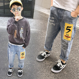 4afadb60 Kids Pants Boys Stretch Joker Jeans 2019 Spring Baby Children Pencil  Leggings Autumn Denim Clothes For 4 to 14 Years Male Child