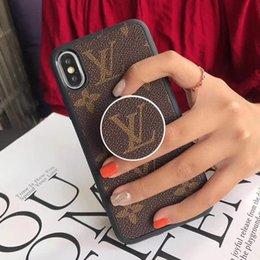 Top luxo pops titular phone case para iphone x xs xr xs max 7 8 além de couro designer phone case com suporte do telefone para samsung s10 plus s9