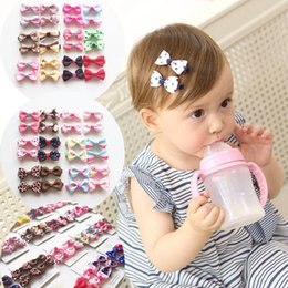 $enCountryForm.capitalKeyWord Australia - MIXIU 20pcs set Cute Children Hair Clip Hair Accessories Headwear Baby Ribbon Bow Kids Baby Girls Hairpins Full Cover Clips