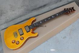 Cross Electric Guitar Australia - Top Quality orange bird fretboard flower cross inlay OEM PRS Electric guitar in stock