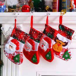 $enCountryForm.capitalKeyWord Australia - Christmas Santa Snowman Socks Cute Ornaments Festival Pendant Xmas Tree Hanging Socks Gift Kids For Home Christmas Tree Decor