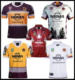 61f77728104 League jerseys online shopping - 2019 Newest Brisbane Broncos rugby Jerseys  NRL National Rugby League shirt