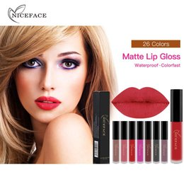 Brown Lip Color NZ - NICEFACE lip gloss non-stick cup does not fade liquid lip gloss 26 color long-lasting makeup lipstick