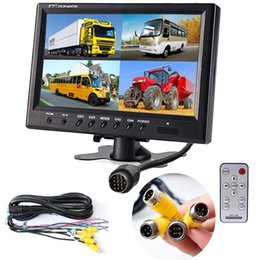 DC12V-24V 9Inch LCD Car Monitor 4CH Quad Split Screen 4-Pin Aviation AV video input For Car Truck vehicle Rear review Surveillance System from camera rotating screen manufacturers