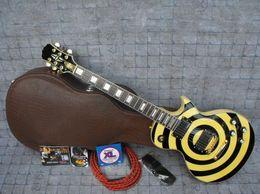 Zakk wylde online shopping - Custom Shop Zakk Wylde bullseye Sparkle Gold Black EMG Pickup Electric Guitar Gold Hardware Gold Name Plated