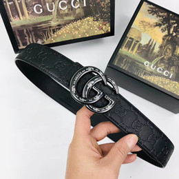 $enCountryForm.capitalKeyWord NZ - High qualtiy Belts for men smooth buckle belt male chastity design belts mens Black Genuine leather belt without box RT68a