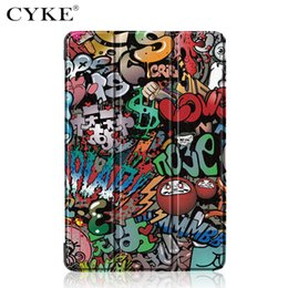 China CYKE Tablet cover For Xiaomi MiPad 4 Plus 10.1 inch Trifold Tablet Smart Leather Painted Case suppliers