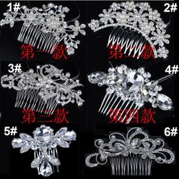 $enCountryForm.capitalKeyWord Australia - Bridal Wedding Tiaras Stunning Fine Comb Bridal Jewelry Accessories Crystal Pearl Hair Brush utterfly hairpin for bride 60pcs