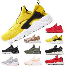 newest 1066f 68bc0 Yellow air online shopping - 2019 Ultra AIr Huaraches Running Shoes For man  woman Triple s