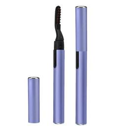 $enCountryForm.capitalKeyWord Australia - Beauty Electric Heated Eyelash Curler Pen Makeup Cosmetic Perfect Big Eyes Remover Clip Eyebrow Eye Lashes Tweezers Makeup tool